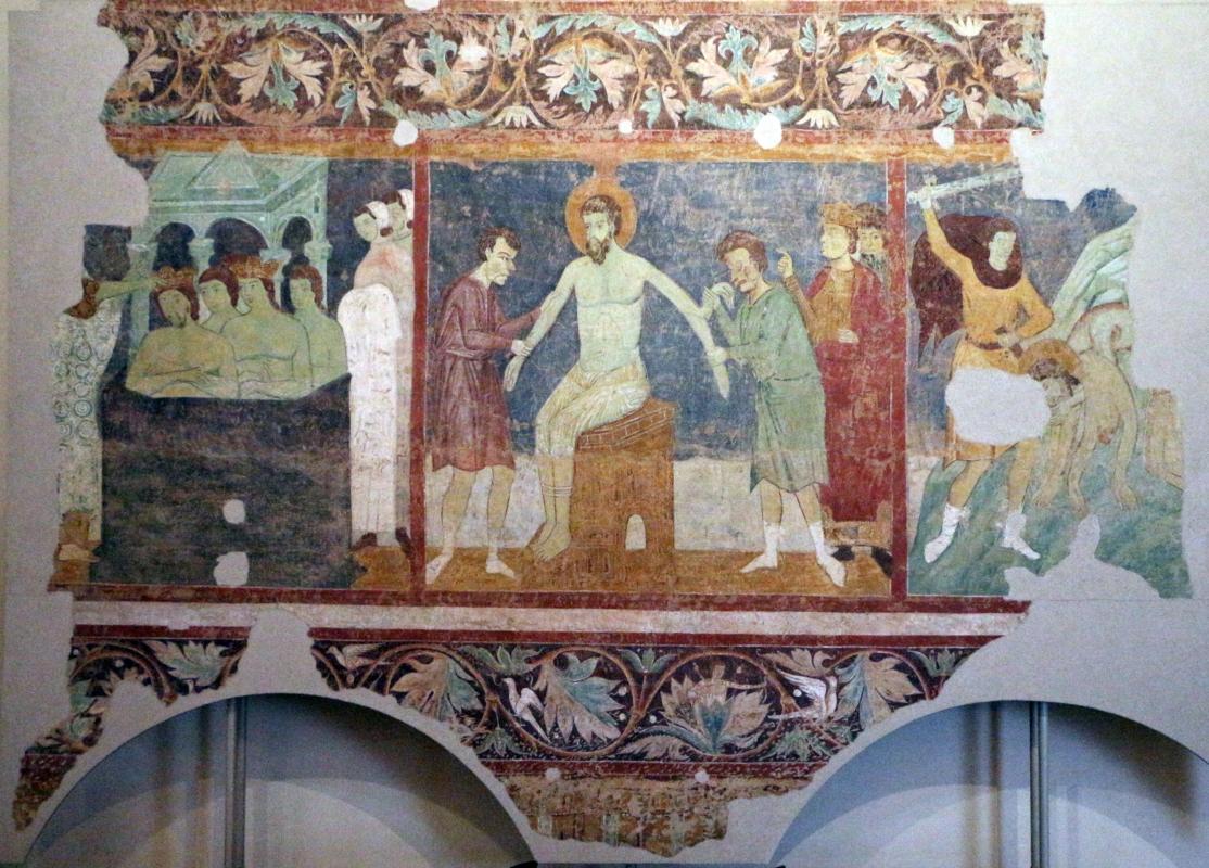 Maestro di san bartolomeo, ascensione, apostoli, storie di s. bartolomeo ed evangelisti, da s. bartolomeo a ferrara, 1264-90 ca. 19 - Sailko - Ferrara (FE)