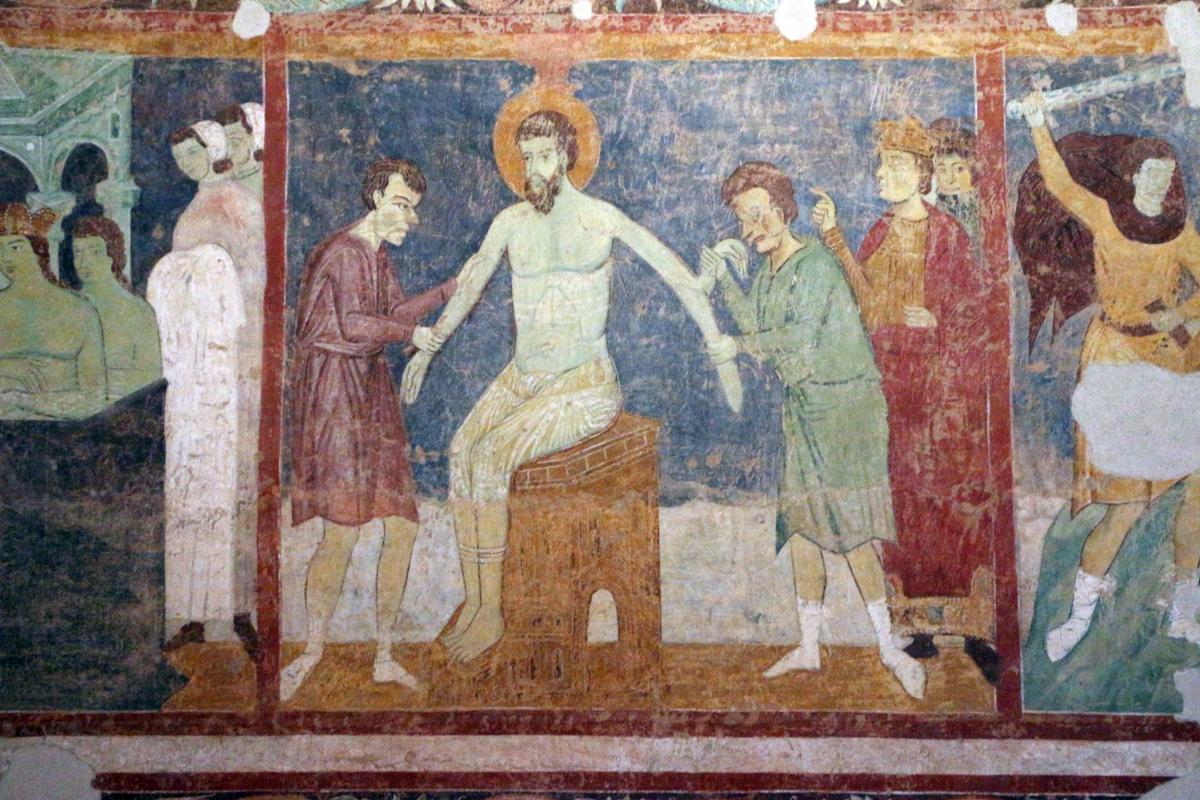 Maestro di san bartolomeo, ascensione, apostoli, storie di s. bartolomeo ed evangelisti, da s. bartolomeo a ferrara, 1264-90 ca. 21 - Sailko - Ferrara (FE)