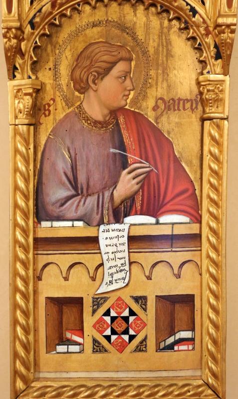 Maestro ferrarese, quattro evangelisti e san maurelio, 1390 ca. 03 matteo - Sailko - Ferrara (FE)