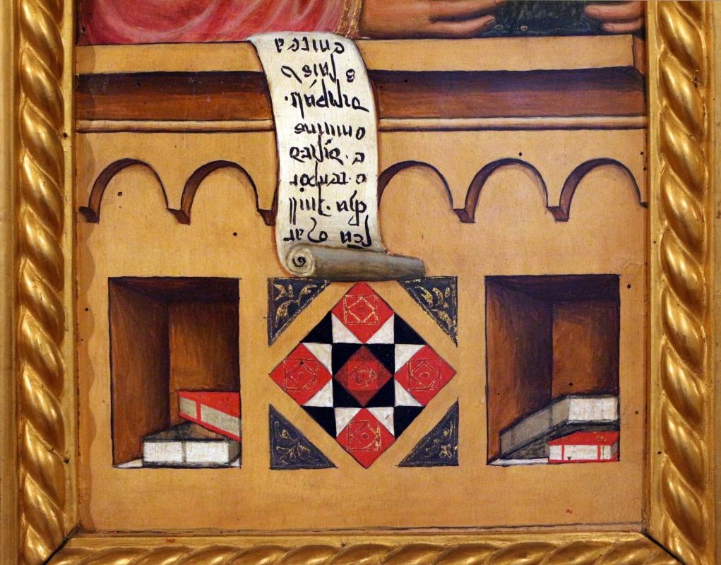Maestro ferrarese, quattro evangelisti e san maurelio, 1390 ca. 07 marco, libri - Sailko - Ferrara (FE)