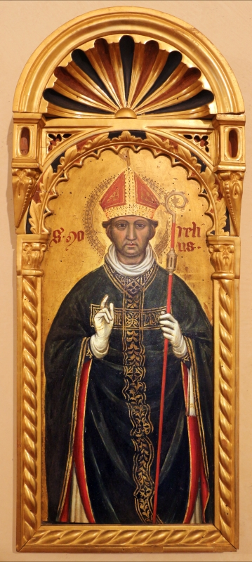 Maestro ferrarese, quattro evangelisti e san maurelio, 1390 ca. 13 maurelio - Sailko - Ferrara (FE)