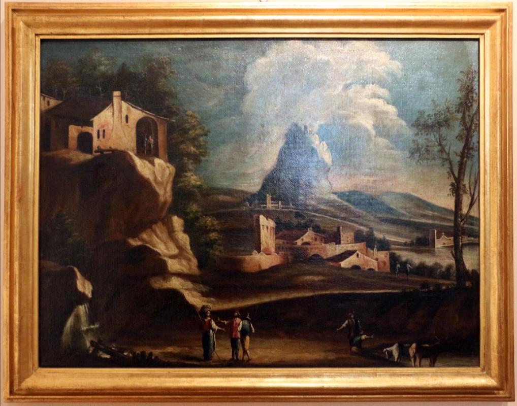 Margherita zola (attr.), paesaggio con contadini e pastore, 1740-60 ca - Sailko - Ferrara (FE)