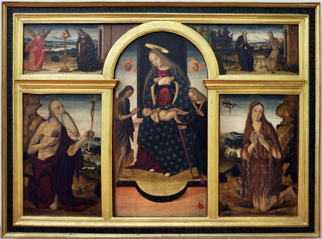 Michele coltellini, madonna in trono e santi, annunciazione, ss. antonio e paolo eremiti - Sailko - Ferrara (FE)