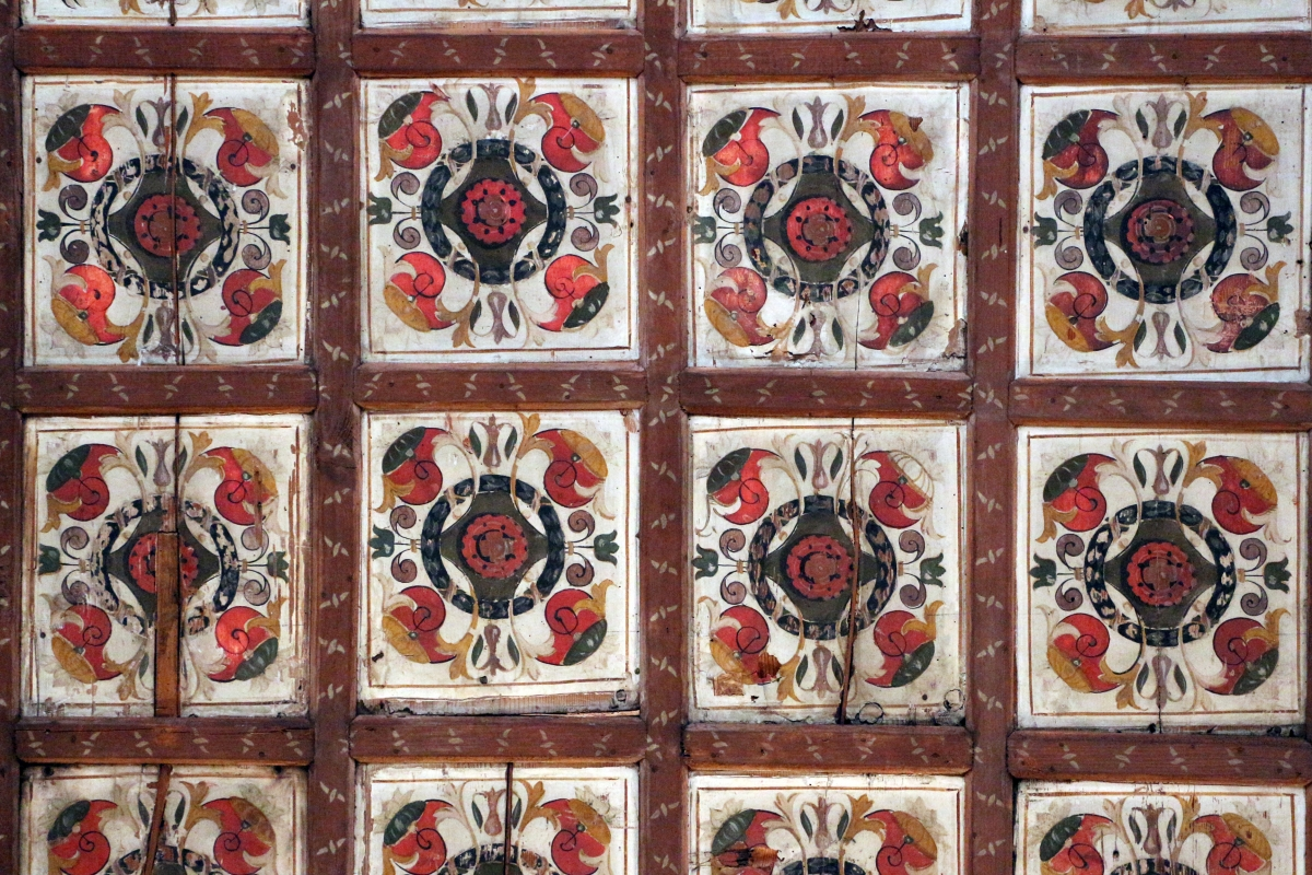 Palazzo dei diamanti, soffitto a lacunari dipinti - Sailko - Ferrara (FE)