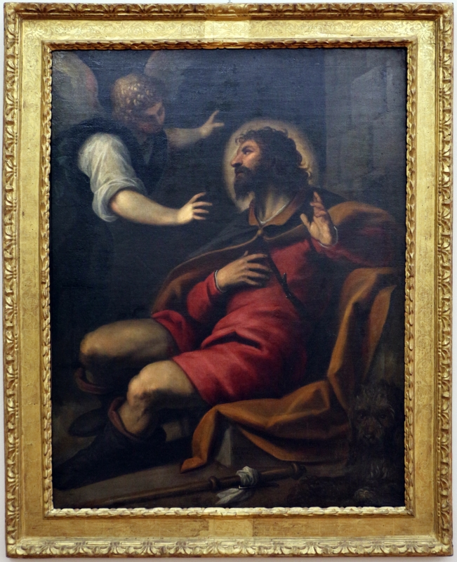 Palma il giovane e bottega, san rocco appestato e l'angelo, 01 - Sailko - Ferrara (FE)
