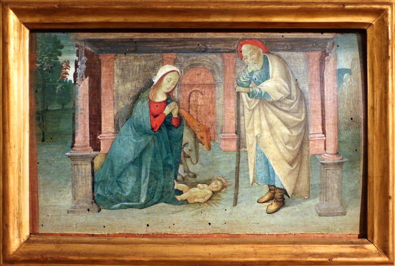 Pittore ferrarese o romagnolo, arcangelo gabriele, stigmate di s. francesco, natività e san giorgio col drago, 1510 ca. 04 - Sailko - Ferrara (FE)