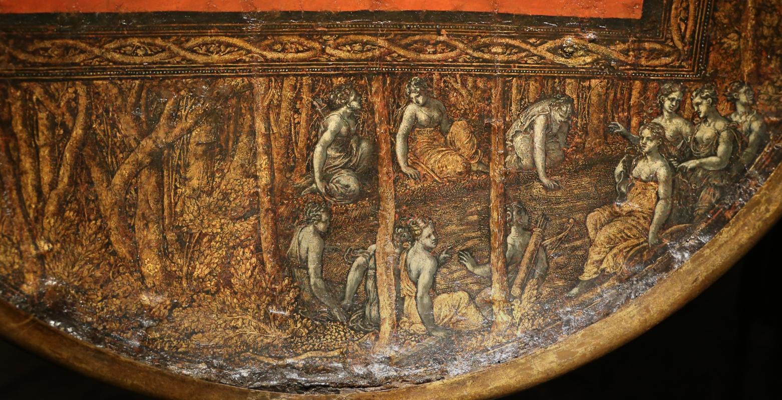 Polidoro da caravaggio, rotella da parata con assedio di cartagena e episodio di diana atteone, 1525-27 ca. (palazzo madama, to) 06 - Sailko - Ferrara (FE)