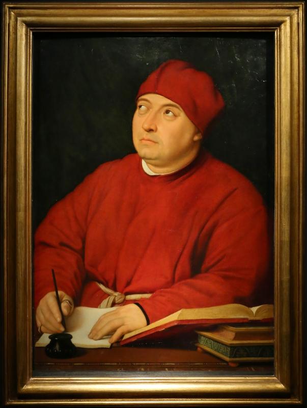 Raffaello, ritratto di tommaso inghirami detto fedra, 1510 ca. (fi, palatina) 01 - Sailko - Ferrara (FE)