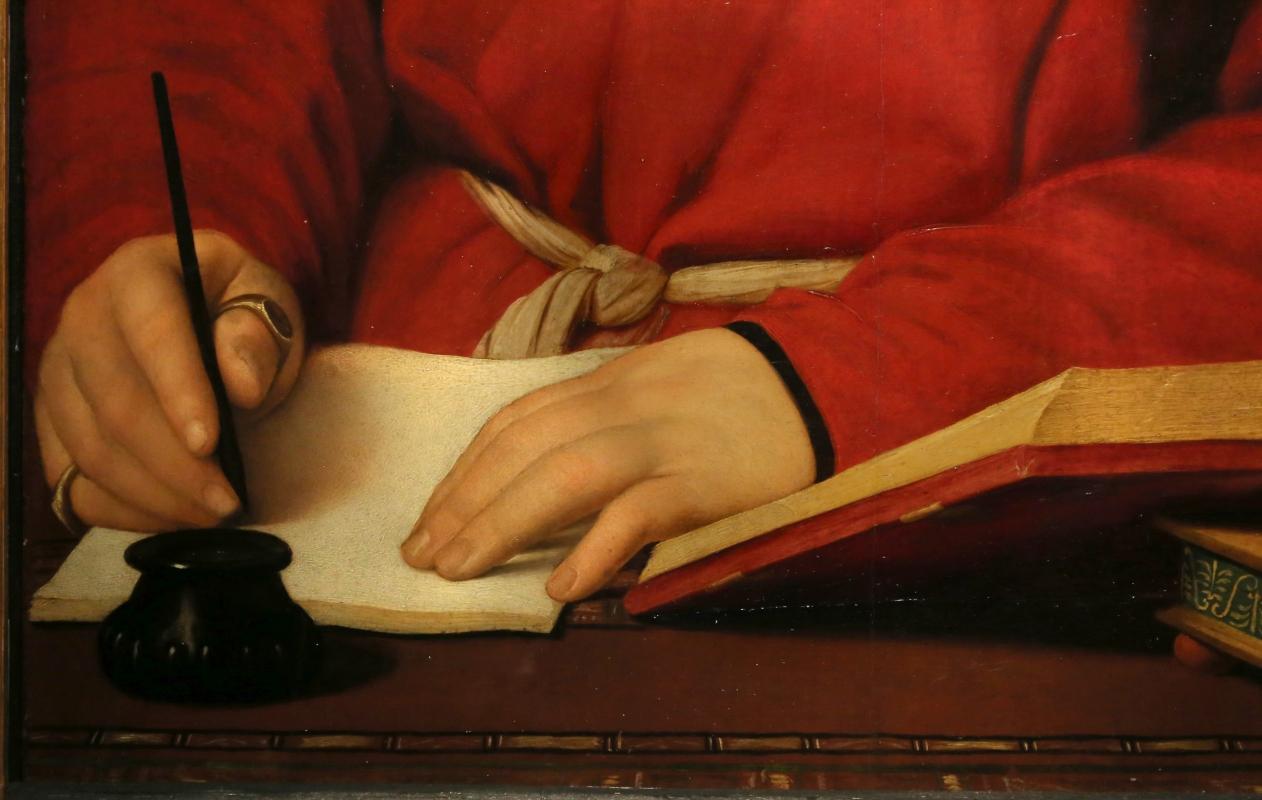 Raffaello, ritratto di tommaso inghirami detto fedra, 1510 ca. (fi, palatina) 03 - Sailko - Ferrara (FE)
