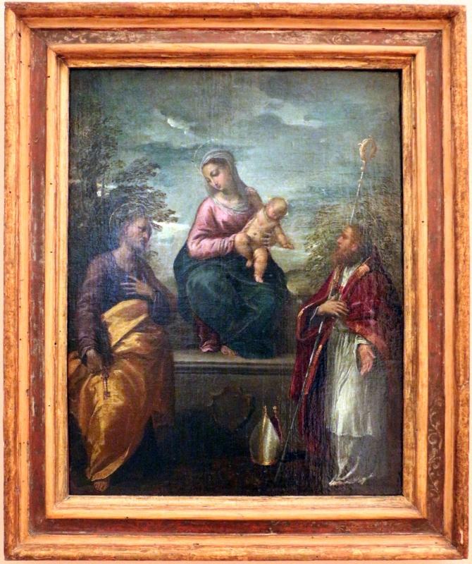 Scarsellino, madonna col bambino, san pietro e un santo vescovo - Sailko - Ferrara (FE)