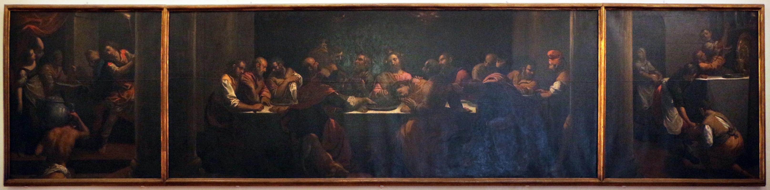 Scarsellino, ultima cena tra due scene di preparazione, da ospedale rizzoli a bologna, 01 - Sailko - Ferrara (FE)