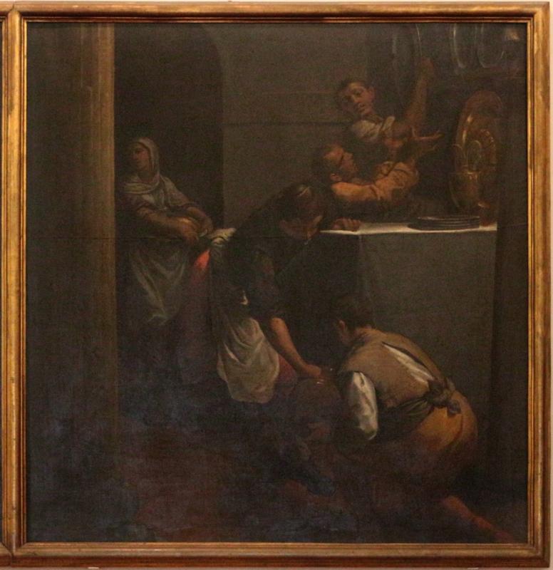 Scarsellino, ultima cena tra due scene di preparazione, da ospedale rizzoli a bologna, 04 - Sailko - Ferrara (FE)