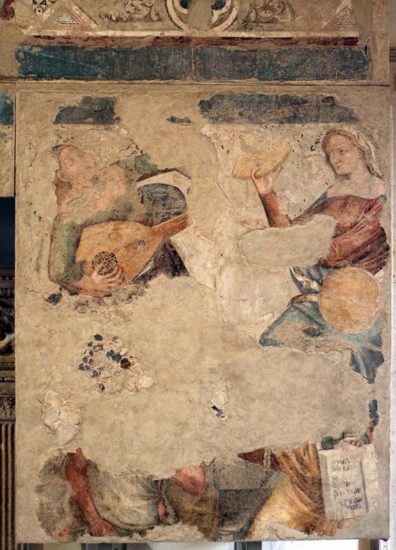 Serafino de' serafini, allegoria di sant'agostino come maestro dell'ordine, 1361-93 ca, da s. andrea a ferrara 07 - Sailko - Ferrara (FE)
