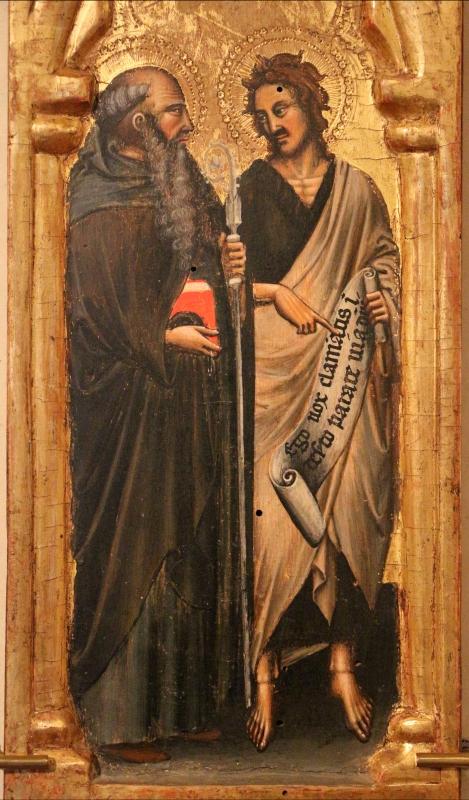 Simone dei crocifissi (attr.), sportelli con annunciazione e quattro santi, 1355-90 ca. 02 jacopo e bartolomeo - Sailko - Ferrara (FE)