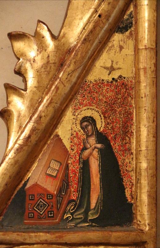 Simone dei crocifissi (attr.), sportelli con annunciazione e quattro santi, 1355-90 ca. 03 - Sailko - Ferrara (FE)