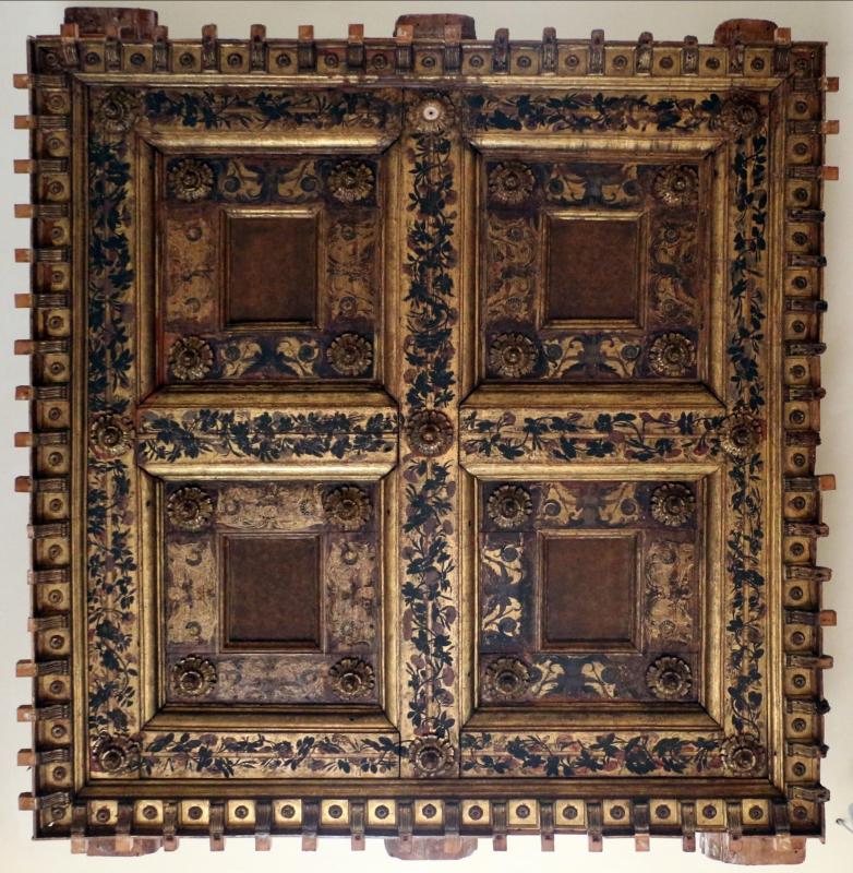 Soffitto a cassettoni, dall'oratorio di s.m. della concezione o della scala a ferrara - Sailko - Ferrara (FE)