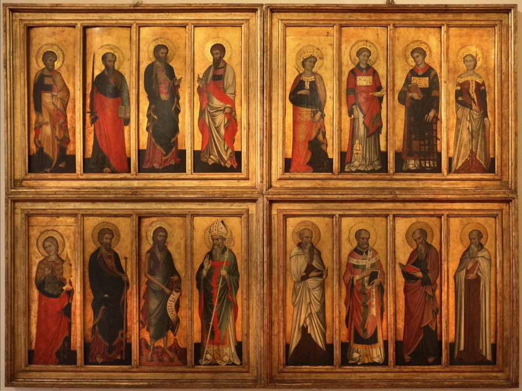 Stefano da venezia, polittico con santi, 1350-1400 ca., da s. paolo a ferrara 01 - Sailko - Ferrara (FE)