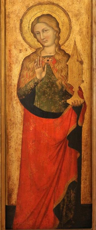 Stefano da venezia, polittico con santi, 1350-1400 ca., da s. paolo a ferrara 02 maddalena - Sailko - Ferrara (FE)
