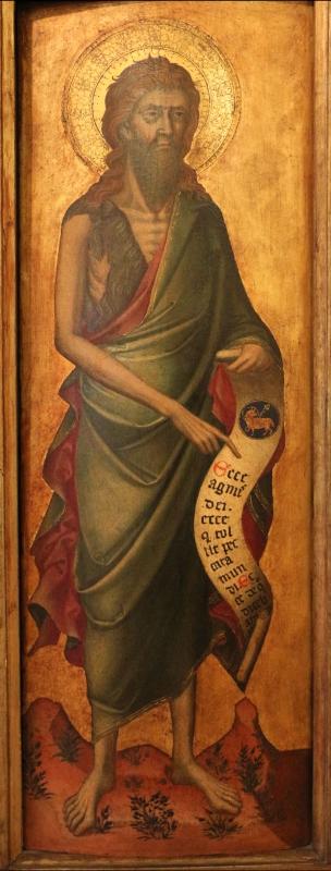 Stefano da venezia, polittico con santi, 1350-1400 ca., da s. paolo a ferrara 03 giovanni battista - Sailko - Ferrara (FE)
