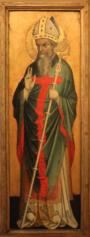 Stefano da venezia, polittico con santi, 1350-1400 ca., da s. paolo a ferrara 04 san maurelio - Sailko - Ferrara (FE)