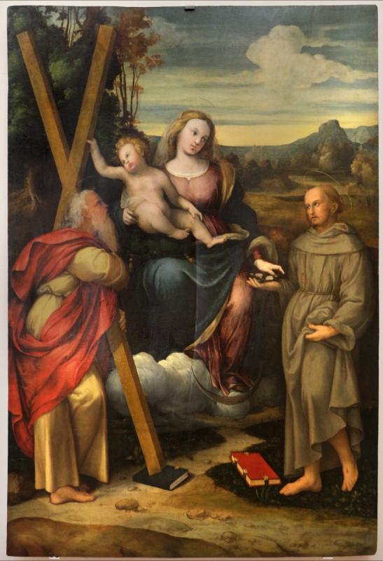 Zenone veronese, immacolata tra i ss. andrea e francesco, 1500-40 ca. 01 - Sailko - Ferrara (FE)