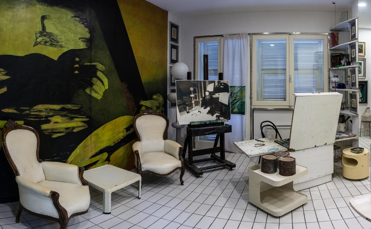 Casa Museo di Remo Brindisi - Lo studio del Maestro - Vanni Lazzari - Comacchio (FE)