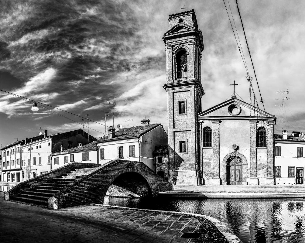 Ponte e Chiesa del Carmine - Vanni Lazzari - Comacchio (FE)