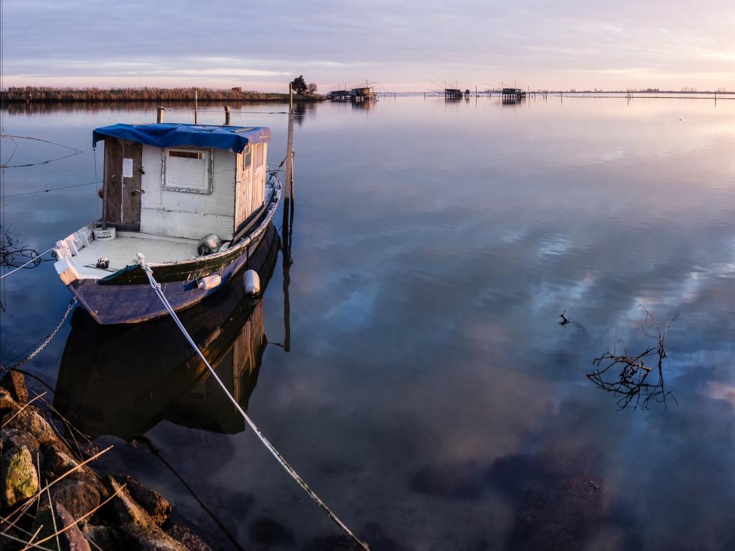Barca nella Valle Fattibello - Vanni Lazzari - Comacchio (FE)