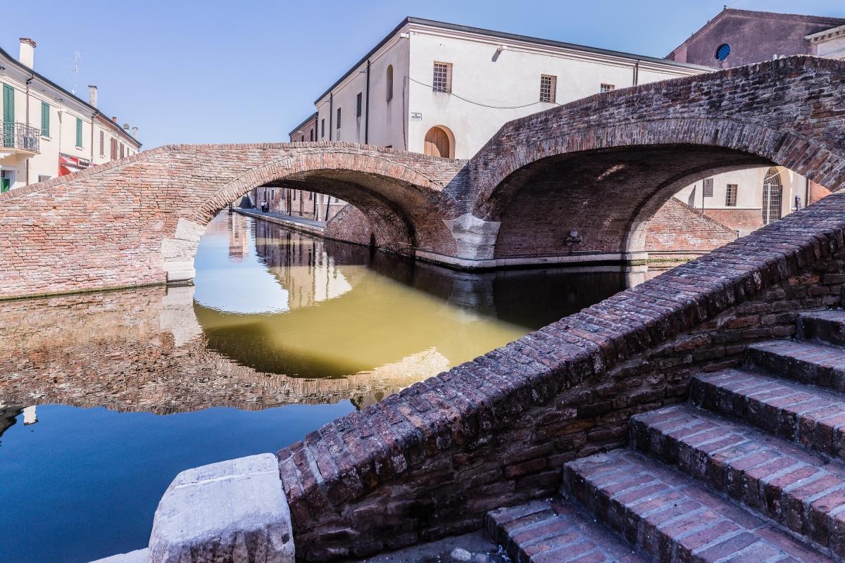 Ponte degli Sbirri in prospettiva - Vanni Lazzari - Comacchio (FE)
