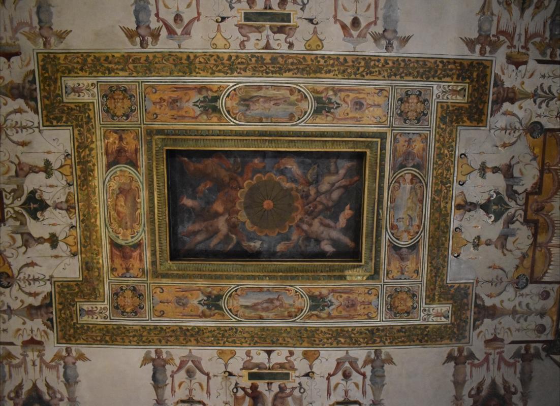 Bastianino (attribuito), amorini, soffitto sala Grande, Palazzina di Marfisa d'Este - Nicola Quirico - Ferrara (FE)
