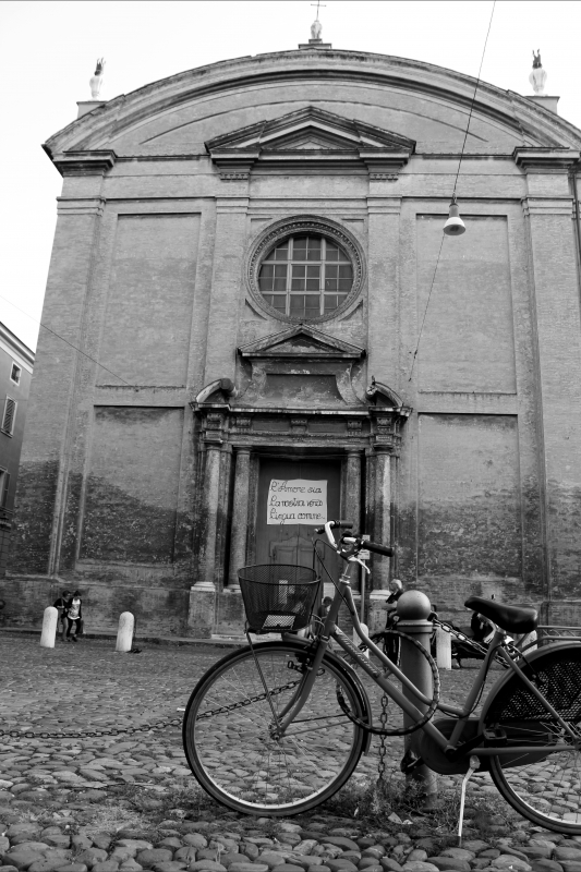 Facciata di Sant'Agostino bianco e nero - BeaDominianni - Modena (MO)