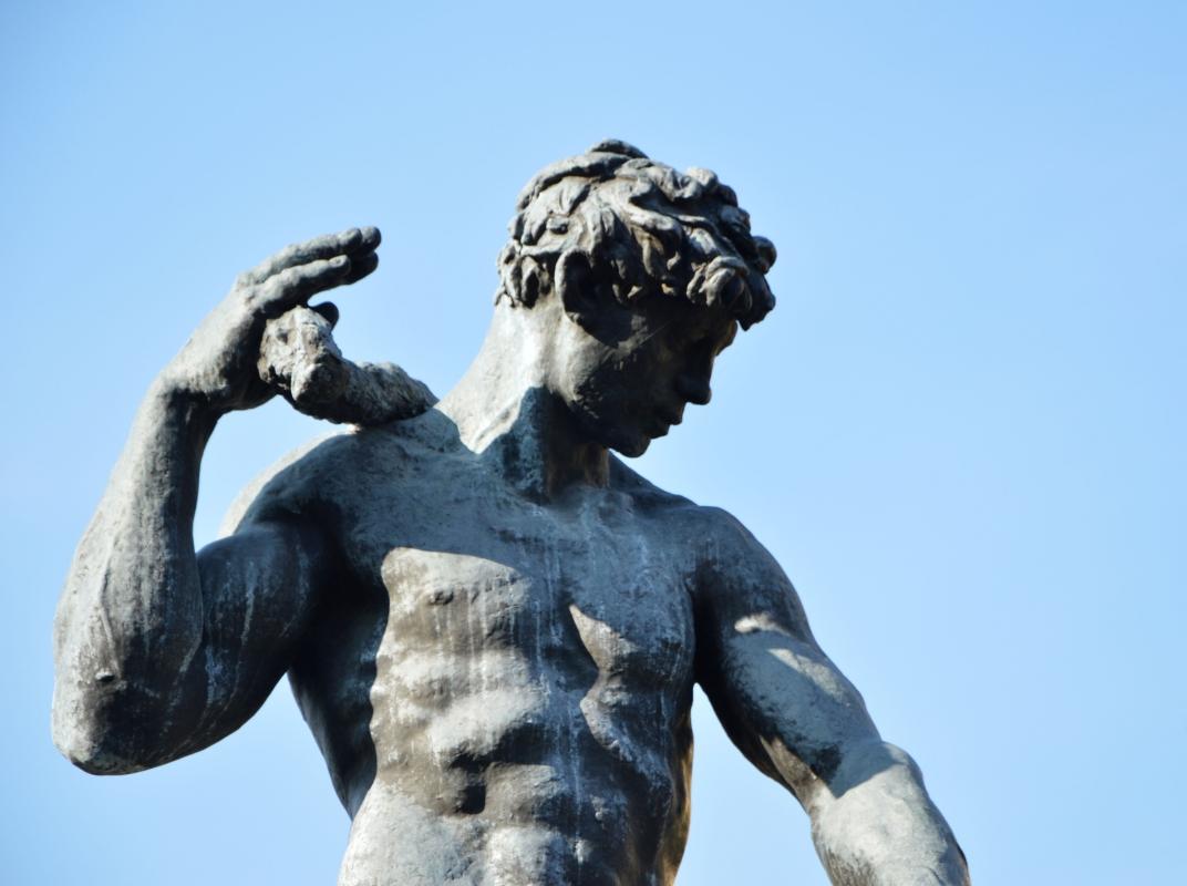Particolare dell'allegoria del Panaro - Valeriamaramotti - Modena (MO)