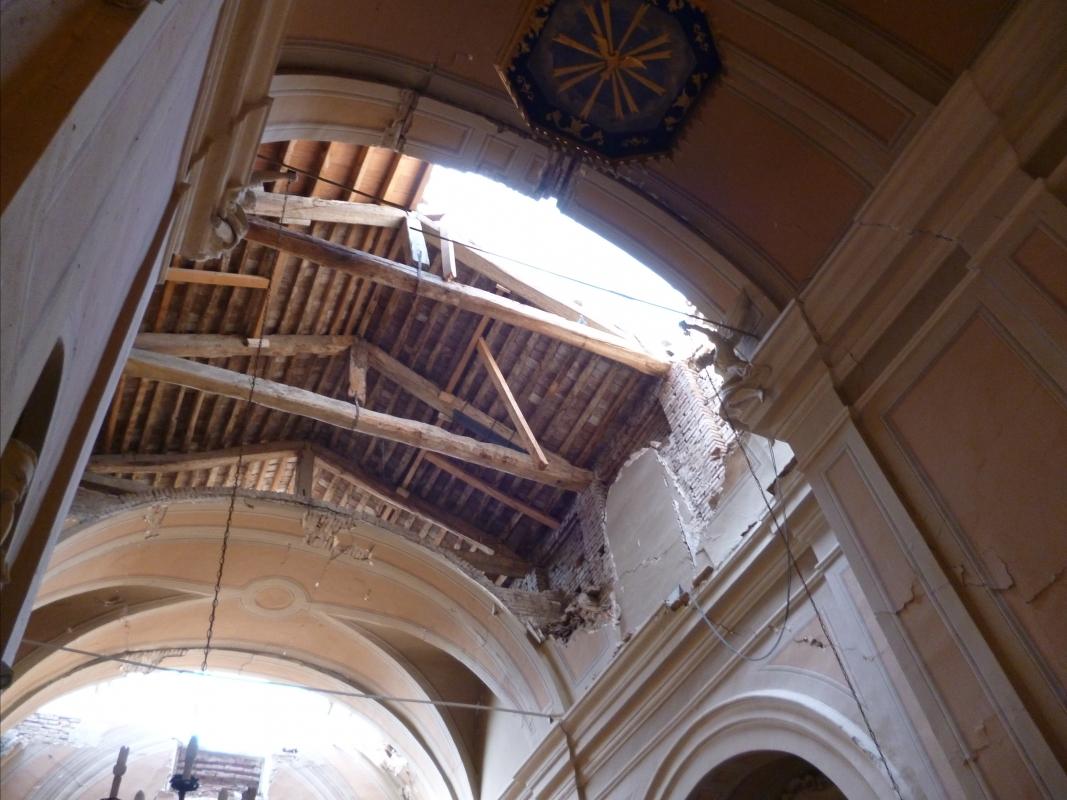 Soffitto navata centrale terremoto 20-05-2012, Oratorio di Santa Croce - San Felice sul Panaro - Mimmo Ferrari - San Felice sul Panaro (MO)