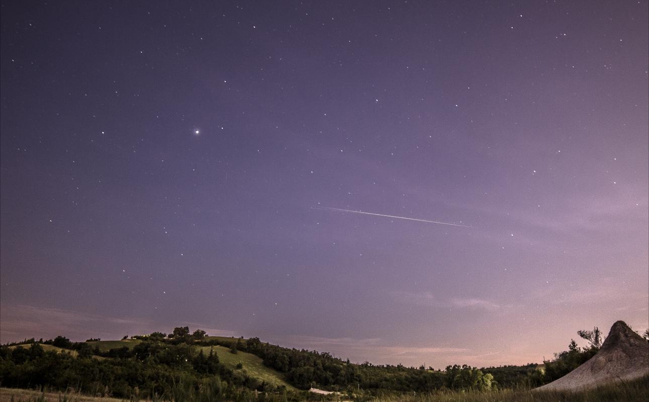 La stella cadente, sopra le Salse - Angelo nastri nacchio - Fiorano Modenese (MO)