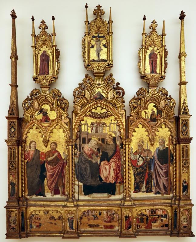 Angelo e bartolomeo degli erri, polittico dell'ospedale della morte, 1462-66, 01 - Sailko - Modena (MO)
