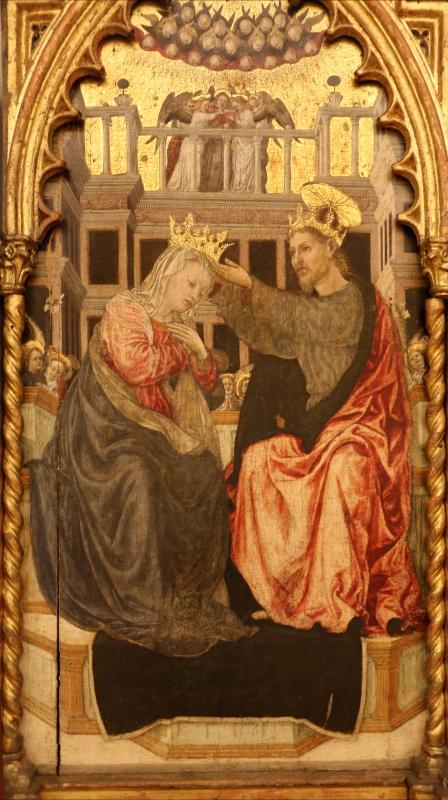 Angelo e bartolomeo degli erri, polittico dell'ospedale della morte, 1462-66, 07 incoronazione della vergine - Sailko - Modena (MO)