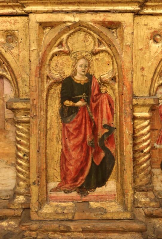 Angelo e bartolomeo degli erri, polittico dell'ospedale della morte, 1462-66, predella 03 maddalena - Sailko - Modena (MO)