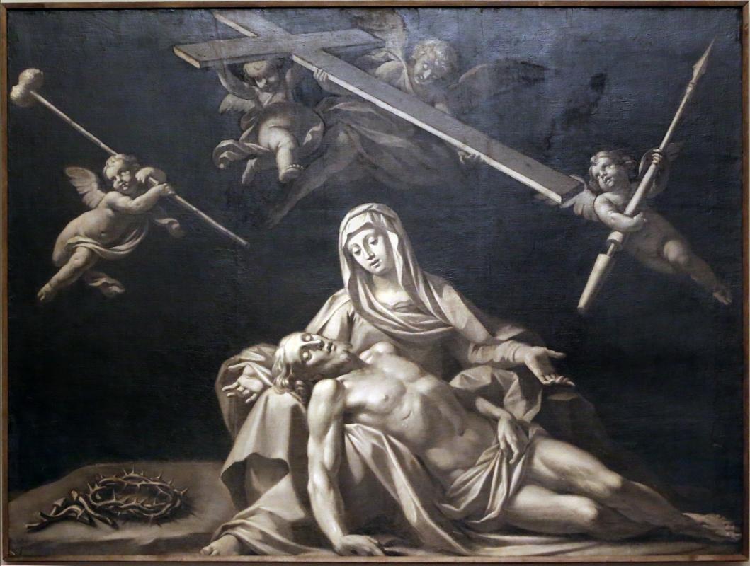 Antonio consetti (attr.), pietà e angeli coi simboli della passione, 1700-50 ca - Sailko - Modena (MO)