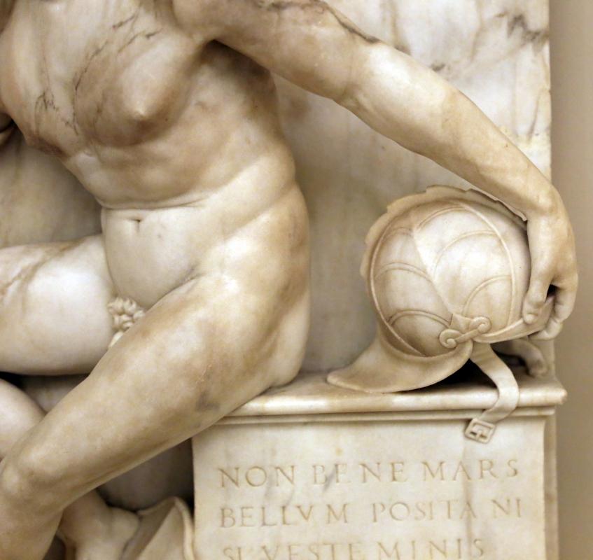 Antonio lombardo, marte a riposo, 1510-15 ca. 03 elmo - Sailko - Modena (MO)