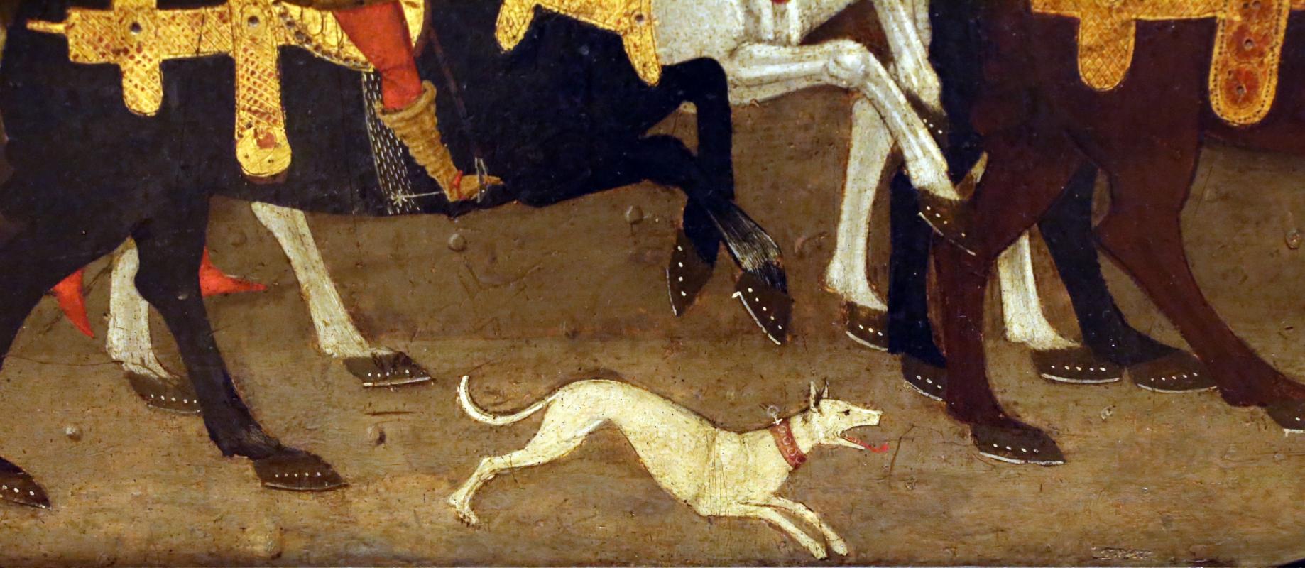 Apollonio di giovanni, novella di griselda, 1440 ca. 04 cane - Sailko - Modena (MO)
