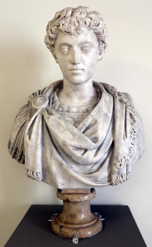 Arte romana, testa di marco aurelio giovane, 150 dc ca., su busto non pertinente del xvi secolo - Sailko - Modena (MO)