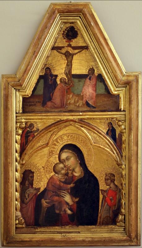 Barnaba da modena, madonna col bambino, crocifissione e annunciazione, 1350-60 ca - Sailko - Modena (MO)