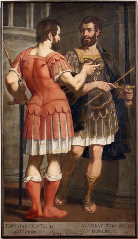 Bernardino cervi, ritratti ideali di alforisio e acarino d'este, 1627-28 - Sailko - Modena (MO)