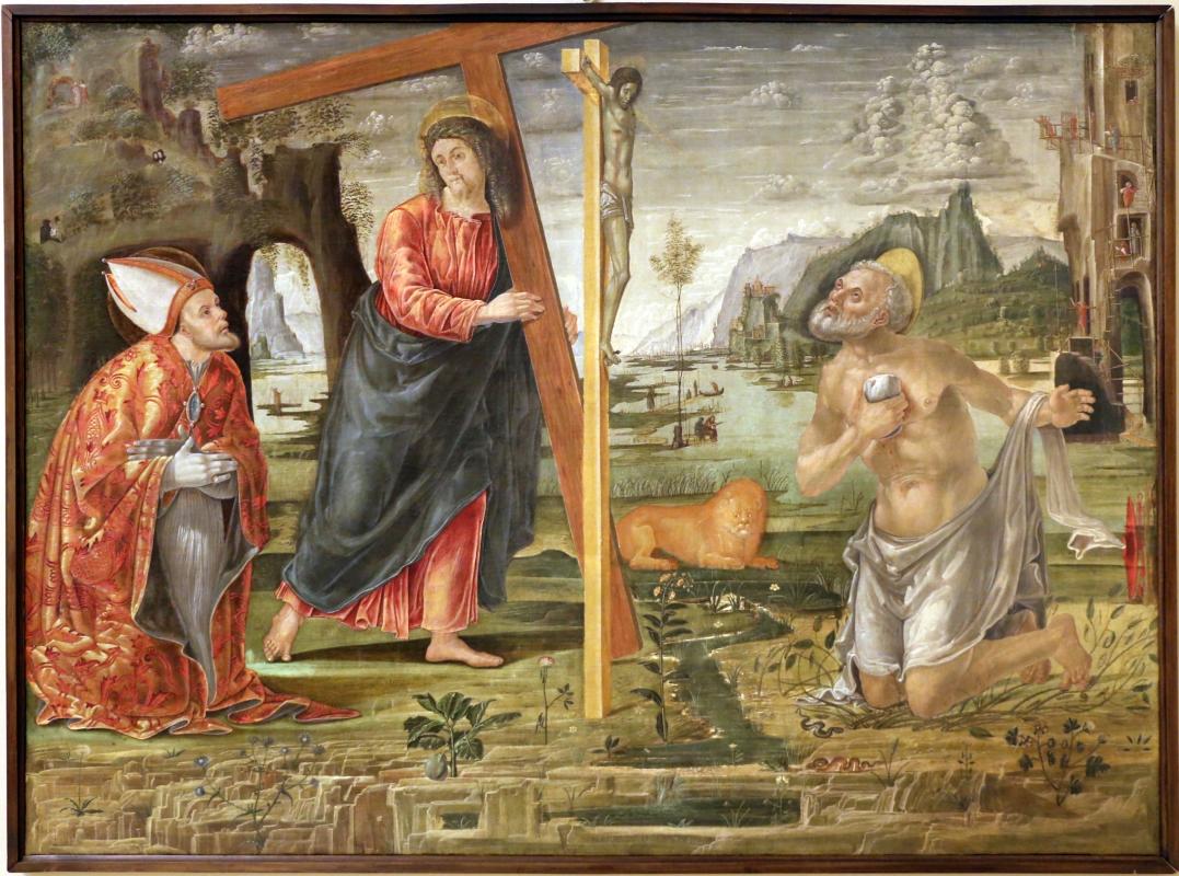 Bernardo parentino, cristo portacroce tra i ss. girolamo e agostino, 1492-96 ca. 01 - Sailko - Modena (MO)
