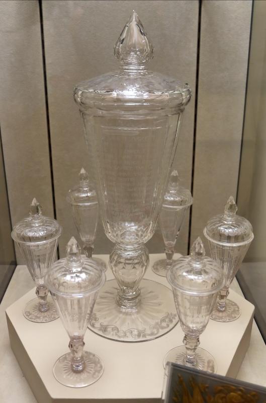 Boemia, coppa e bicchieri in cristallo, 1720 ca - Sailko - Modena (MO)