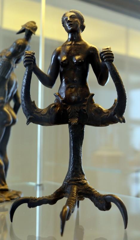 Bottega dell'antico, lucerna con nereide, 1490-1510 ca - Sailko - Modena (MO)