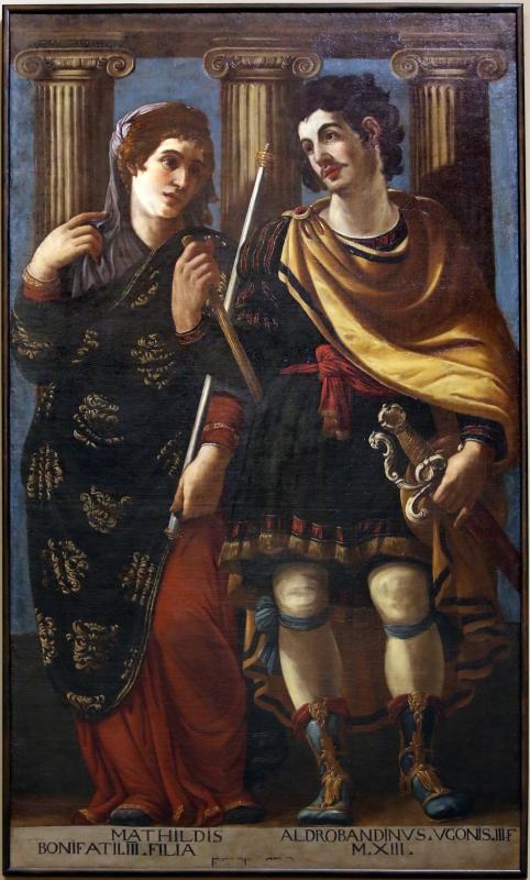 Bottega di bernardino cervi, ritratti ideali di matilde di canossa e di aldobrandino d'este, 1627-28 - Sailko - Modena (MO)