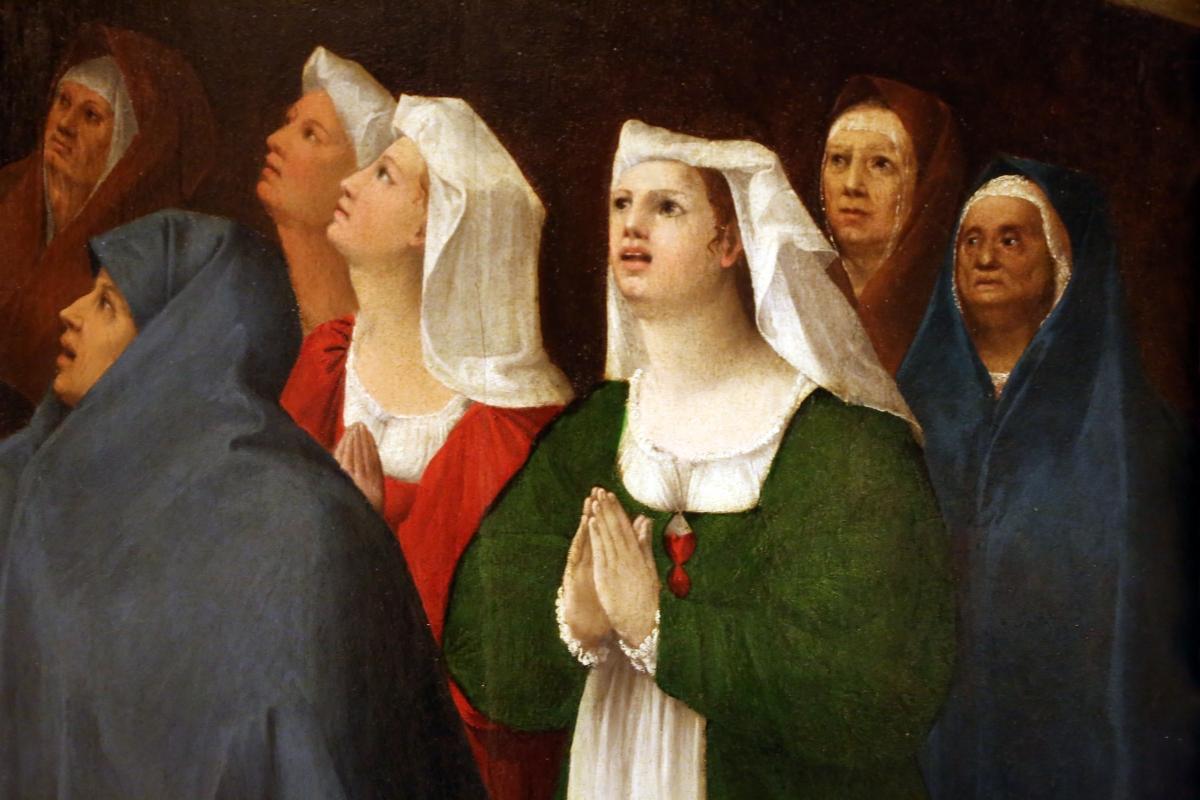 Bottega di dosso e battista dossi, apparizione della madonna col bambino tra i ss. francesco e bernardino ai confratelli della neve, 1530-40 ca. 07 - Sailko - Modena (MO)