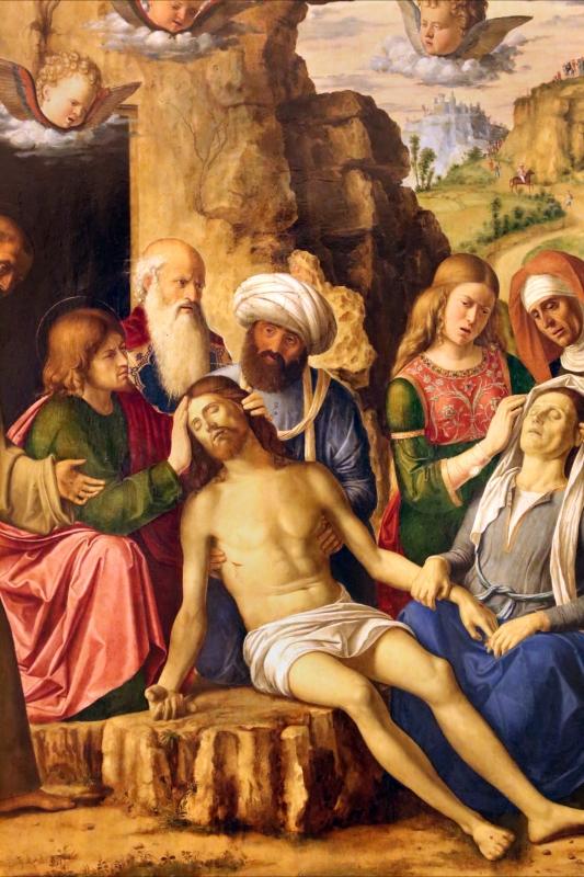 Cima da conegliano, compianto sul cristo morto coi ss. francesco e bernardino, 1502-1505 ca. 02 - Sailko - Modena (MO)