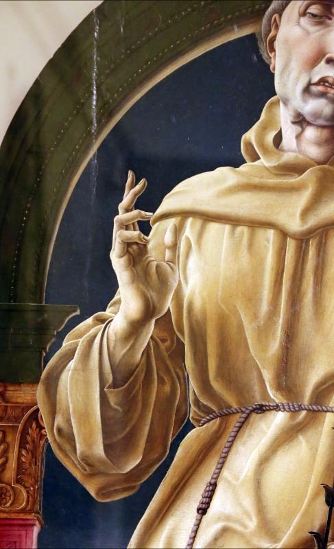 Cosmè tura, sant'antonio da padova, 1484-88 ca. 03 mano - Sailko - Modena (MO)
